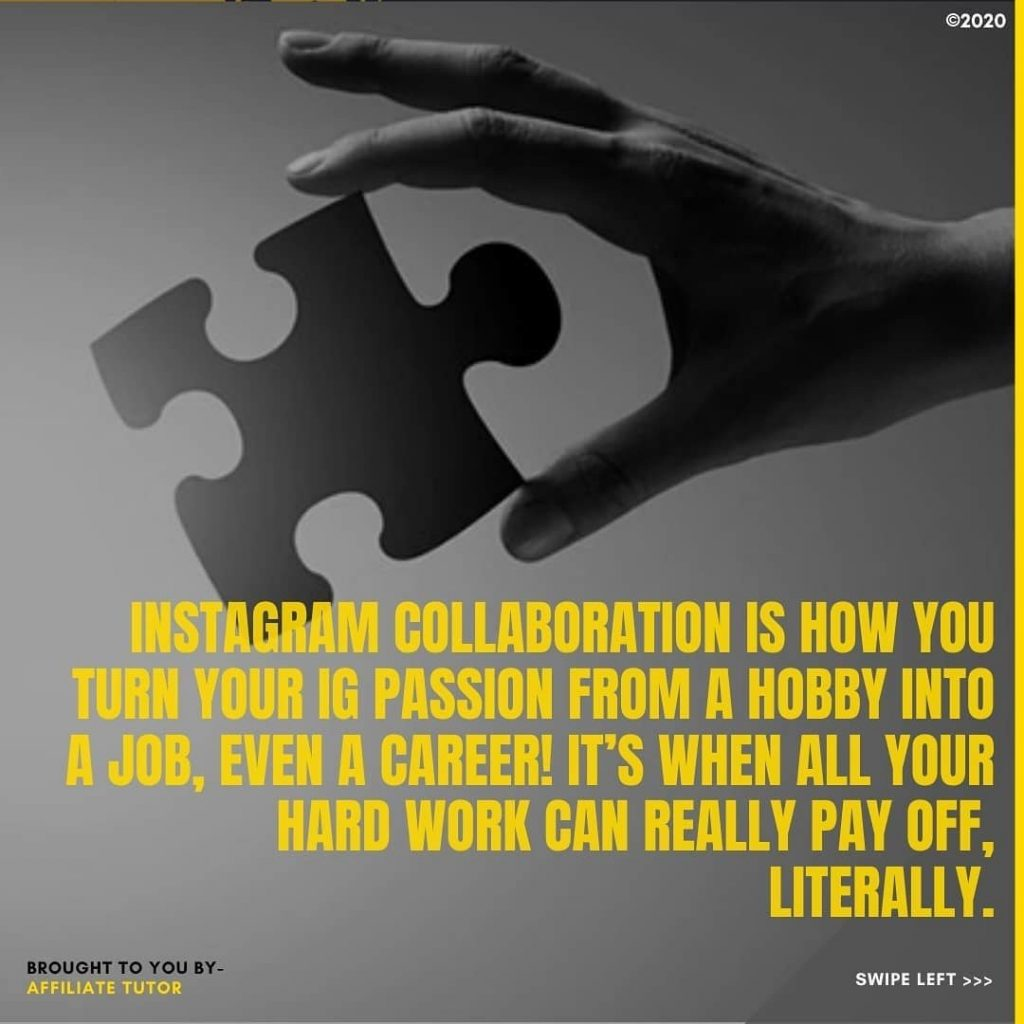 Instagram collaborations is how you turn your IG passion from a hobby into a job, even a career! It's when all your hard work can really pay off, literally.