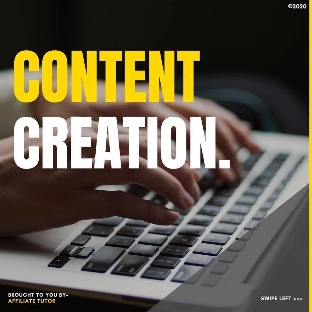 Content creation.