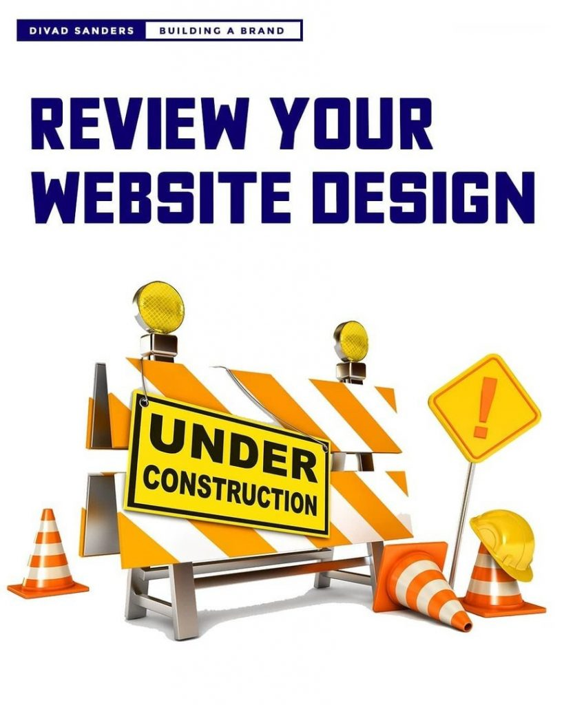 Review your website design