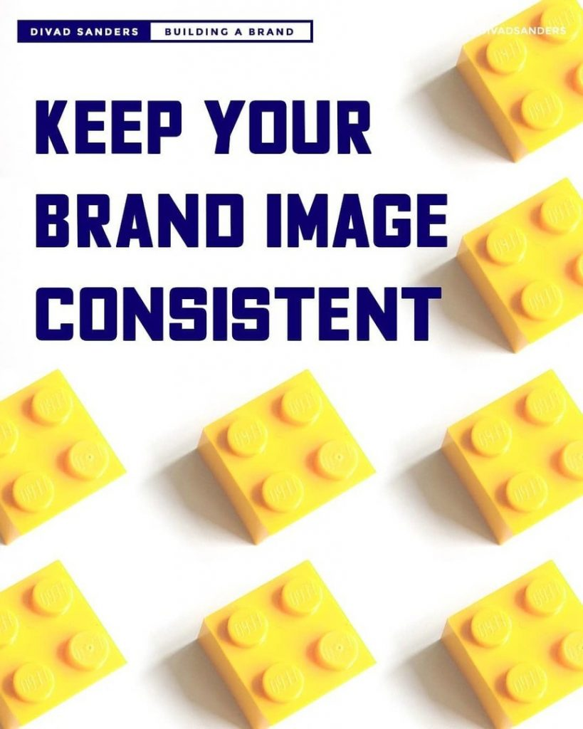 Keep your brand image consistent