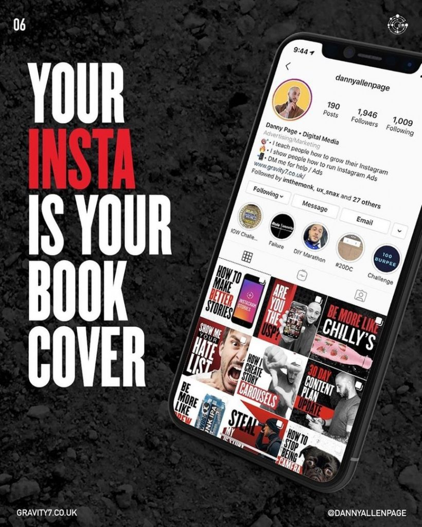 Your Insta is your book cover
