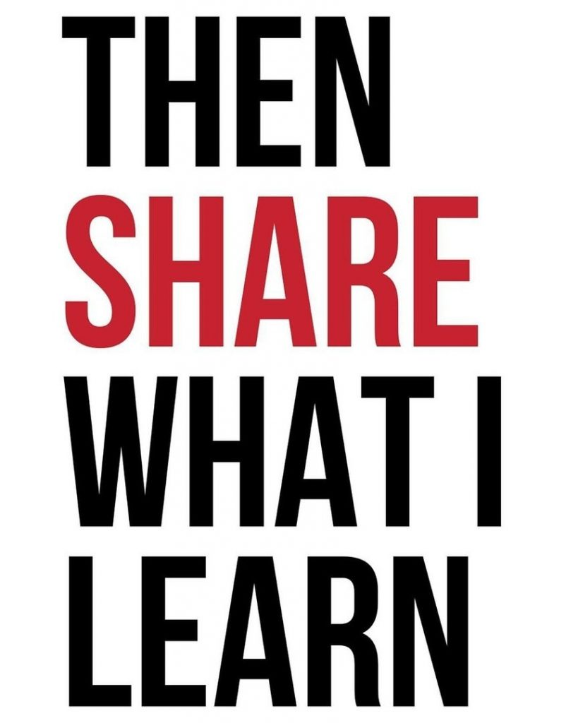 Then share what i learn