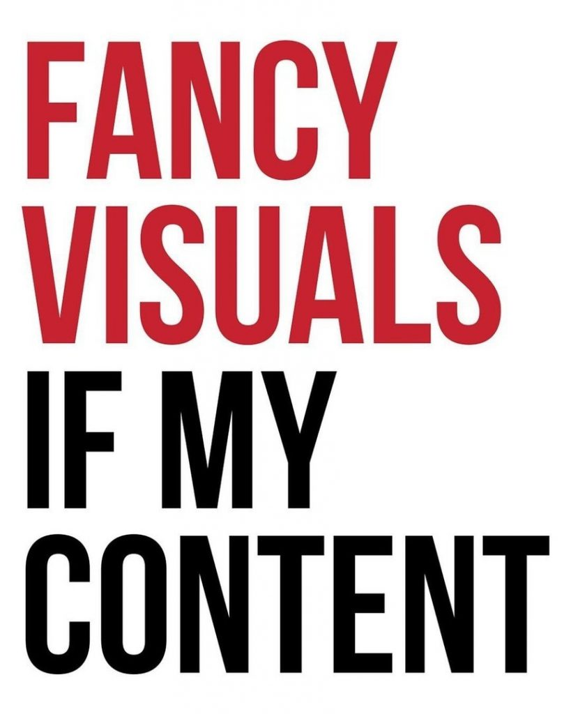 Fancy visuals if my content