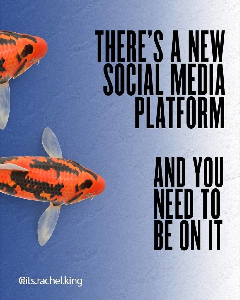 There's a new social media platform and you need to be on it