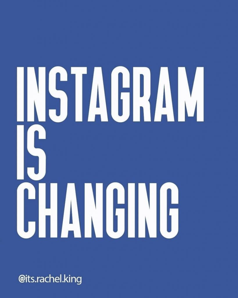 Instagram is changing