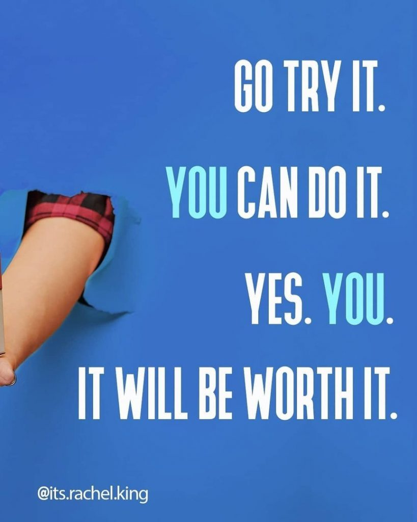 Go try it. You can do it. Yes. You. It will be worth it.