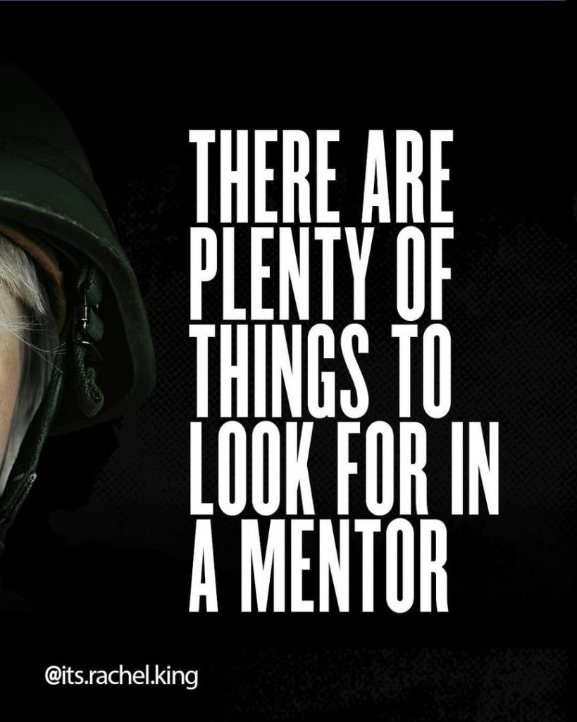 There are plenty of things to look for in a mentor