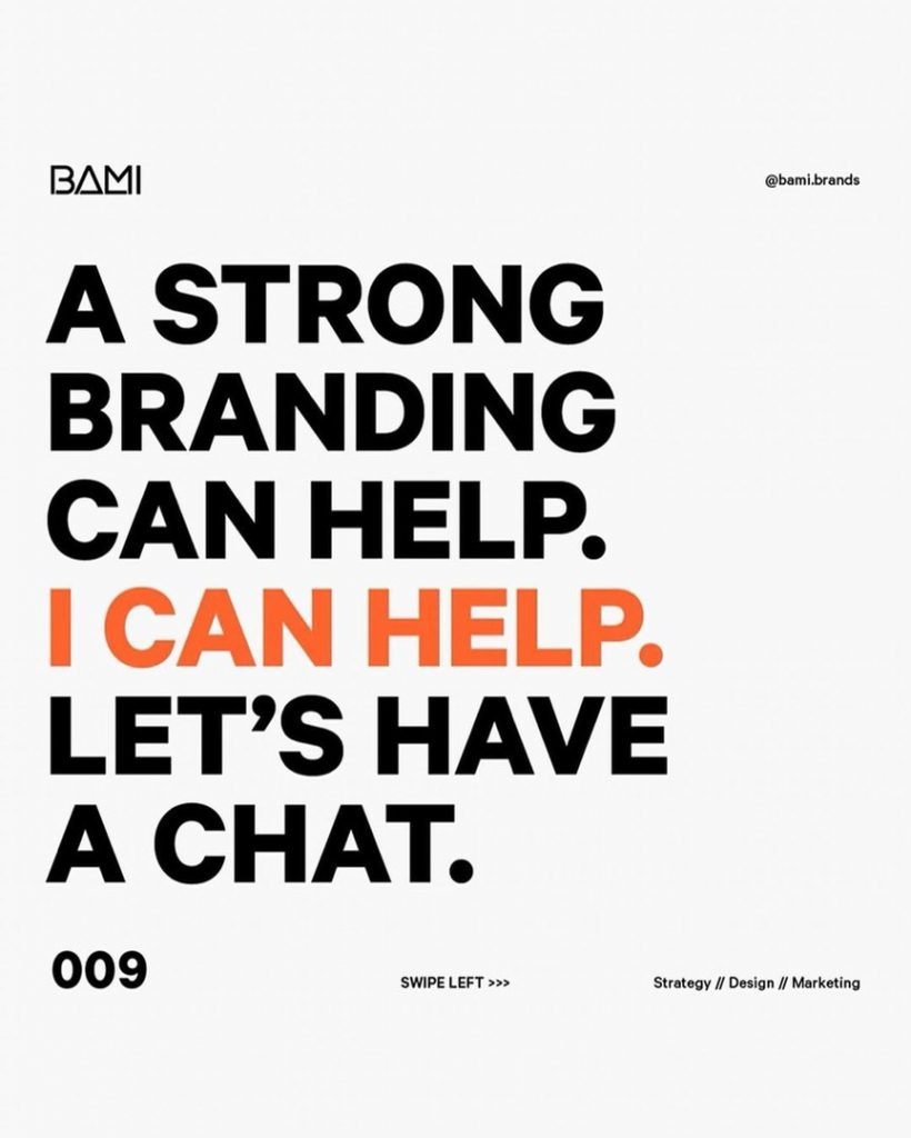 A strong branding can help. I can help. Let's have a chat.
