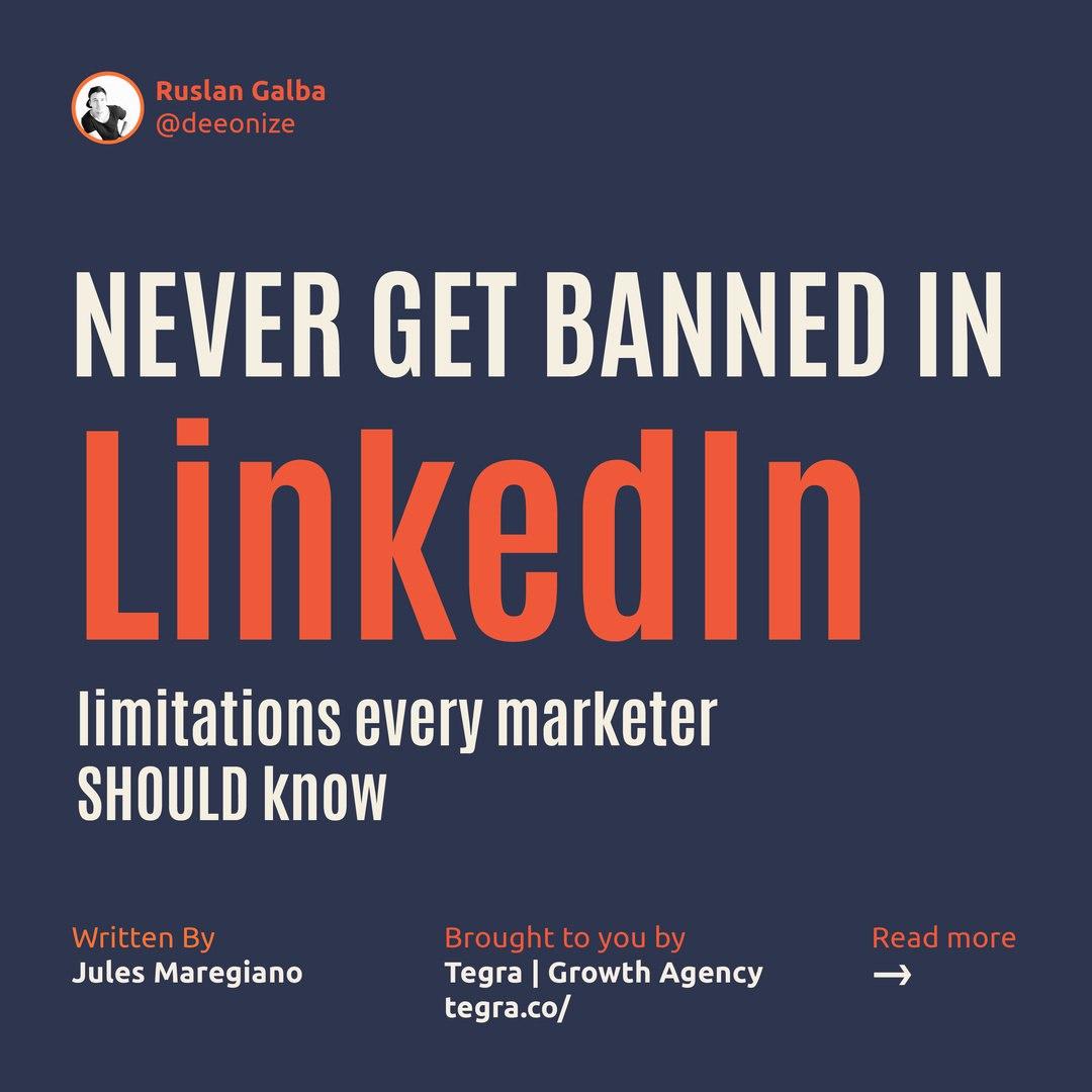 Never Get Banned in LinkedIn