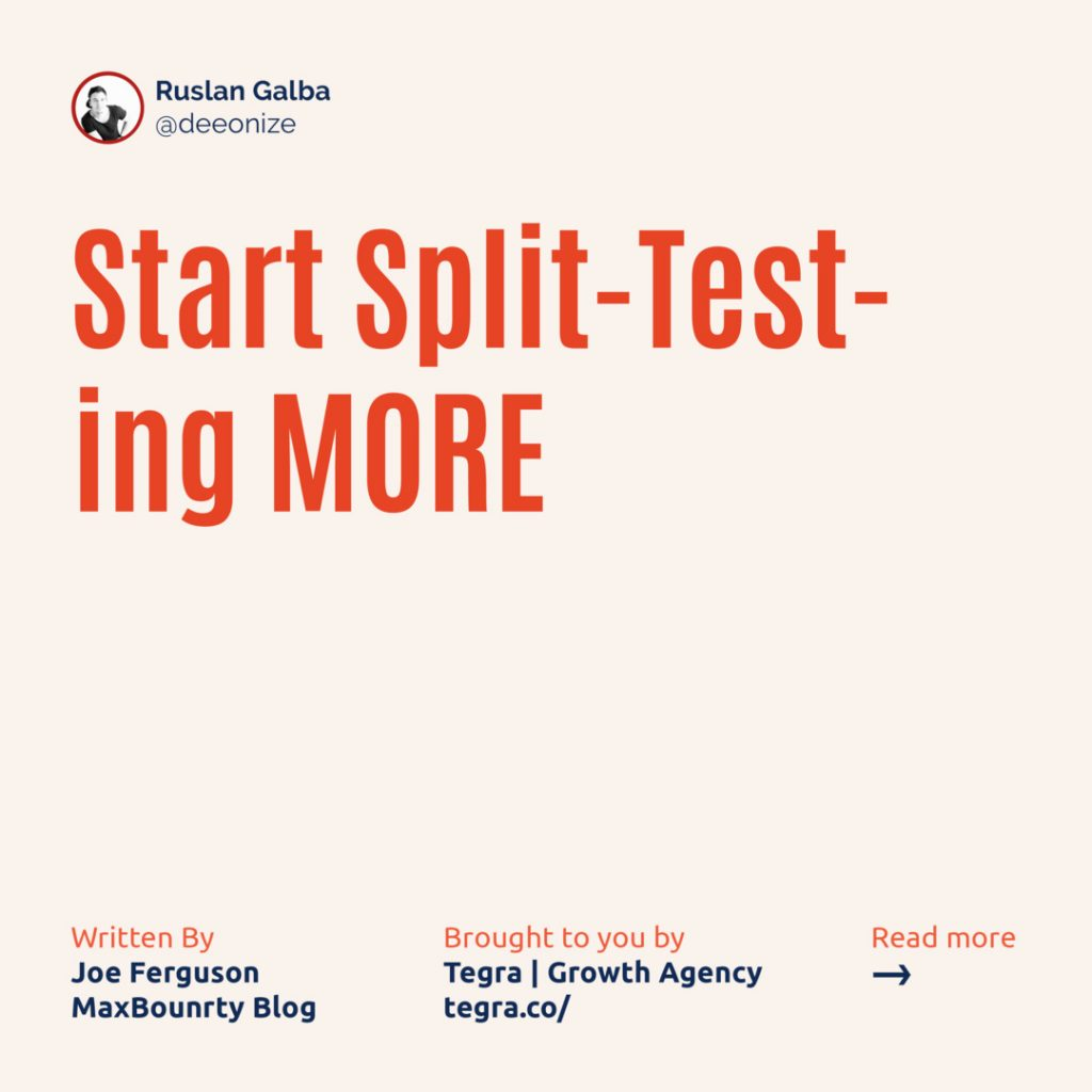 3️⃣ Start Split-Testing MORE  Even if you're already finding some success with your landing page (s), you can still improve it further with additional split-testing. ⠀ If you haven't done any split-testing at all then you're playing a guessing game that has historically featured a lot more losers than winners.