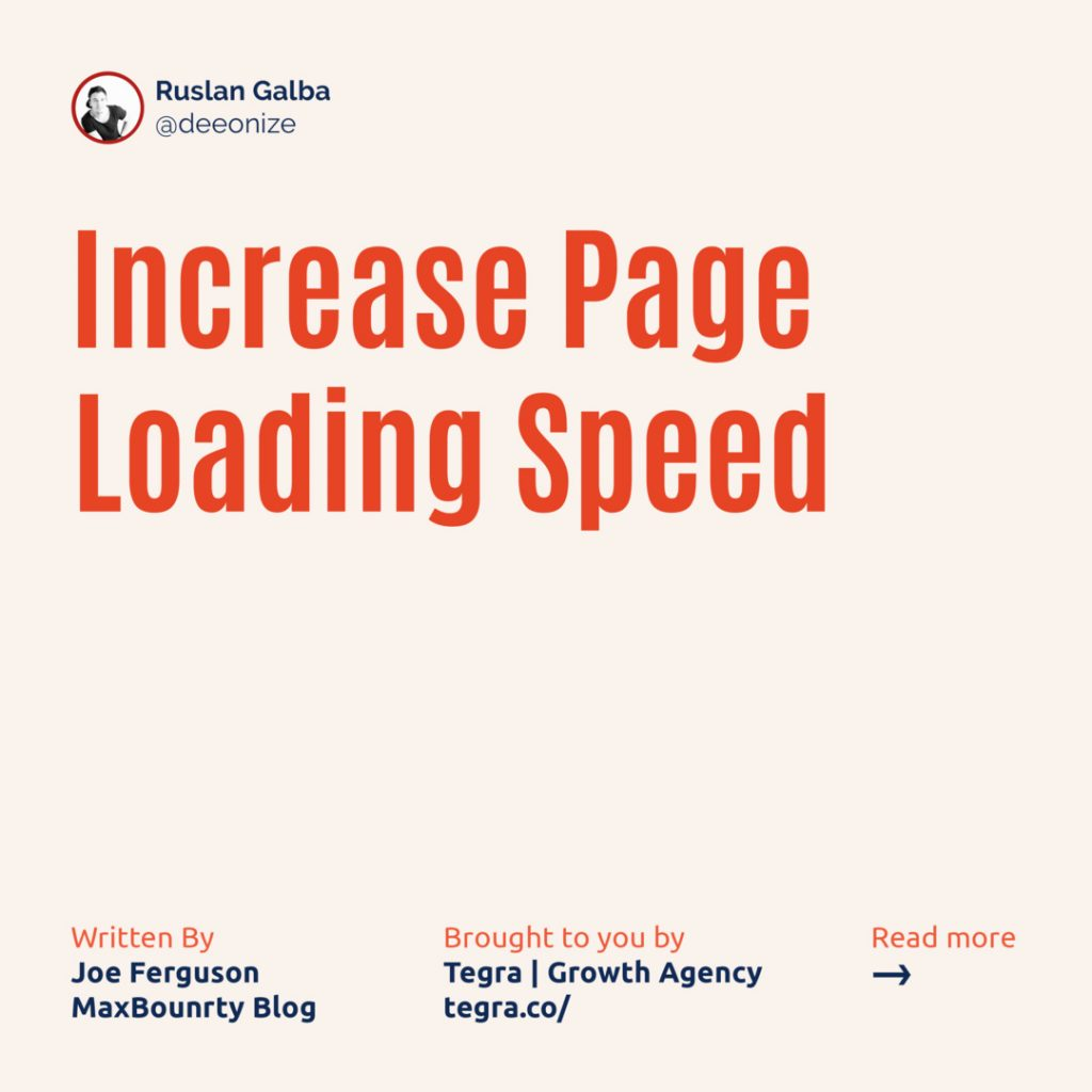 5️⃣ Increase Page Loading Speed ⠀ This one is commonly ignored because it's so easy to become laser-focused on just the content of your page. ⠀ You can have a killer lander with great headlines, attractive photos, engaging copy and persuading call-to-actions that converts abysmally because users are losing their patience before they even see any of those components.