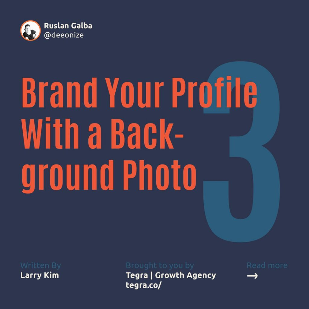 3️⃣ Brand Your Profile With a Background Photo ⠀ Does your LinkedIn profile look boring and average? Give your profile page a bit more personality, or branding, with a visually appealing background image.