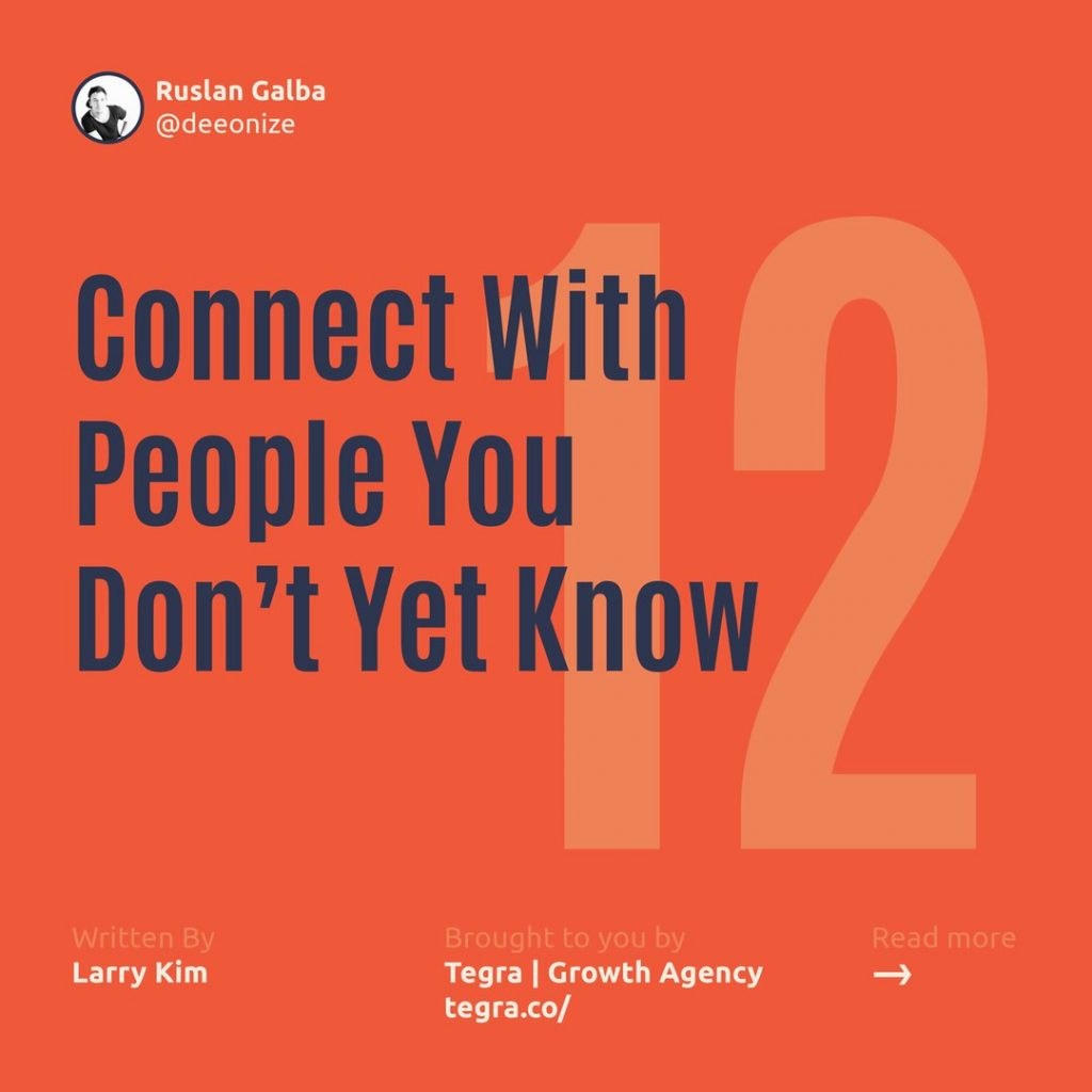 1️⃣2️⃣ Connect With People You Don't Yet Know  One of the biggest mistakes people make on LinkedIn is failing to reach out to connect with people you want to know but don't yet. That's the whole point of networking — getting to know new people, not just established connections.