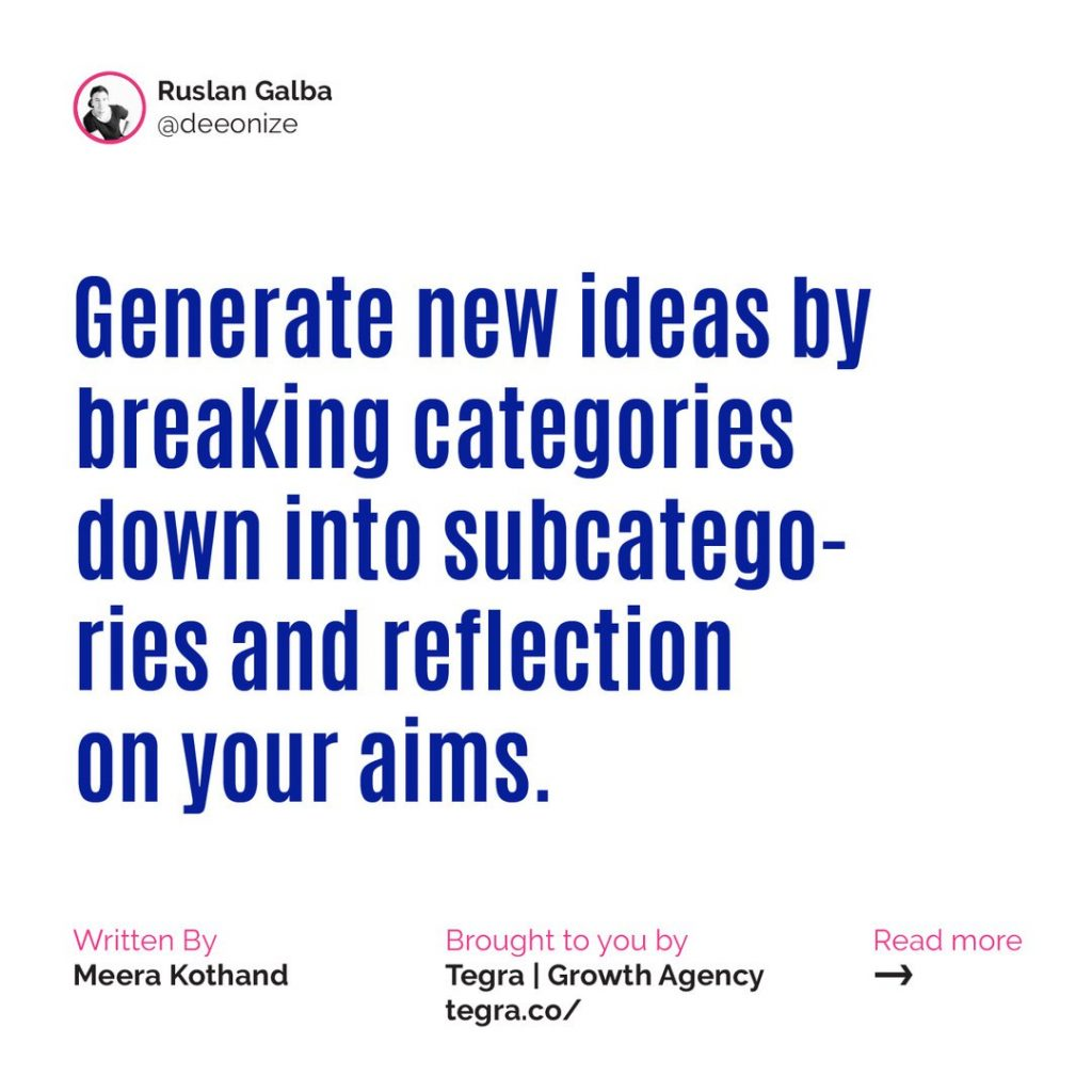 🔹 Generate new ideas by breaking categories down into subcategories and reflecting on your aims.  Here's the million-dollar question: How can you generate exciting new content ideas for your blog? In this book summary, you'll learn two strategies that'll help you do just that.