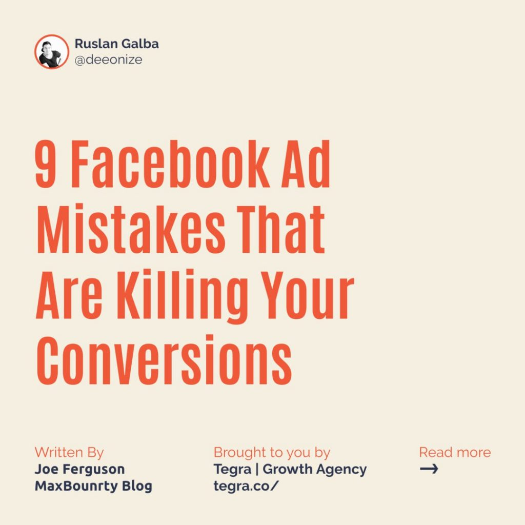 9 Facebook Ad Mistakes That Are Killing Your Conversions