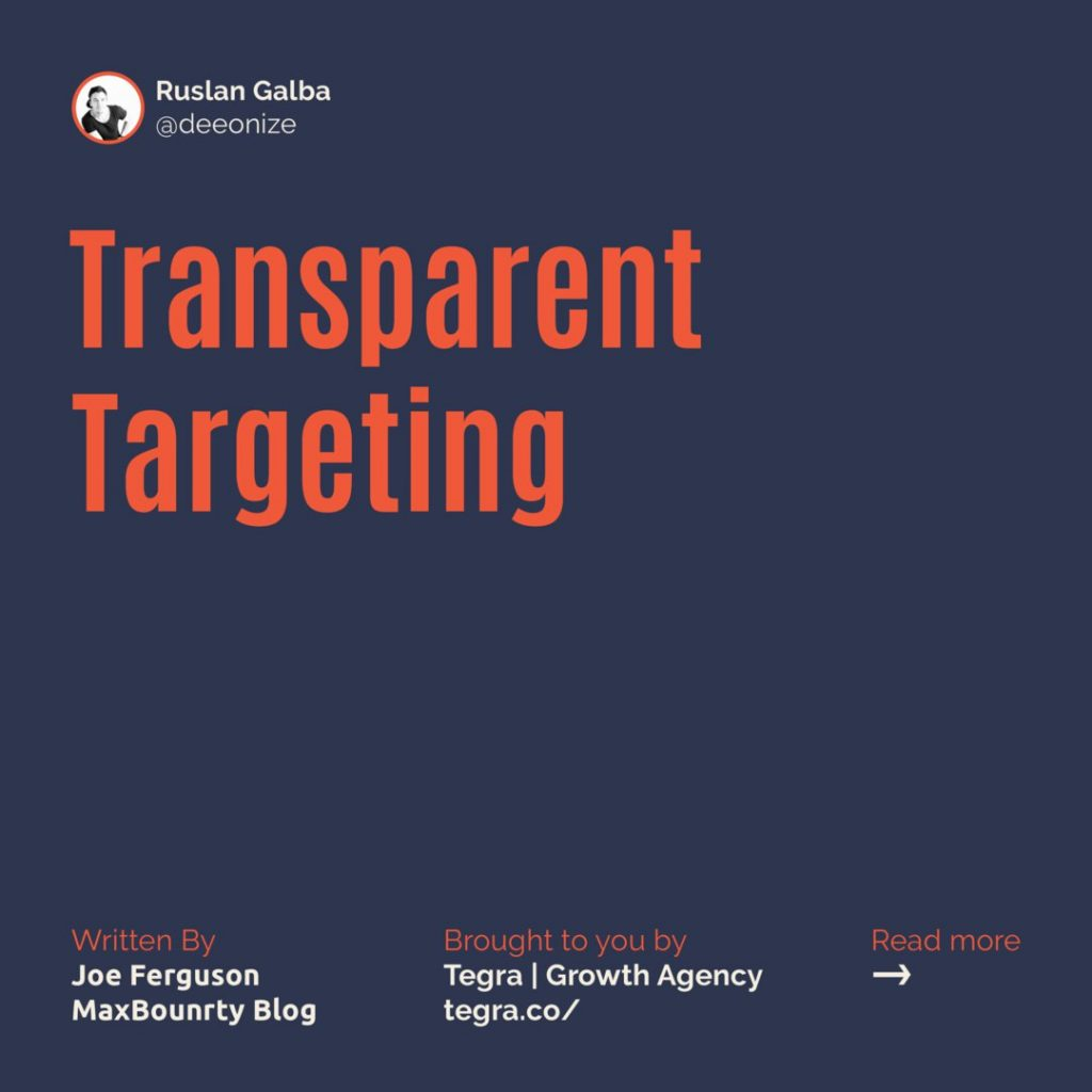 6️⃣ Transparent Targeting  Copy should speak to the audience, but it shouldn't speak to them TOO specifically. If a user can tell that you've targeted them, they'll likely find your ad off-putting.