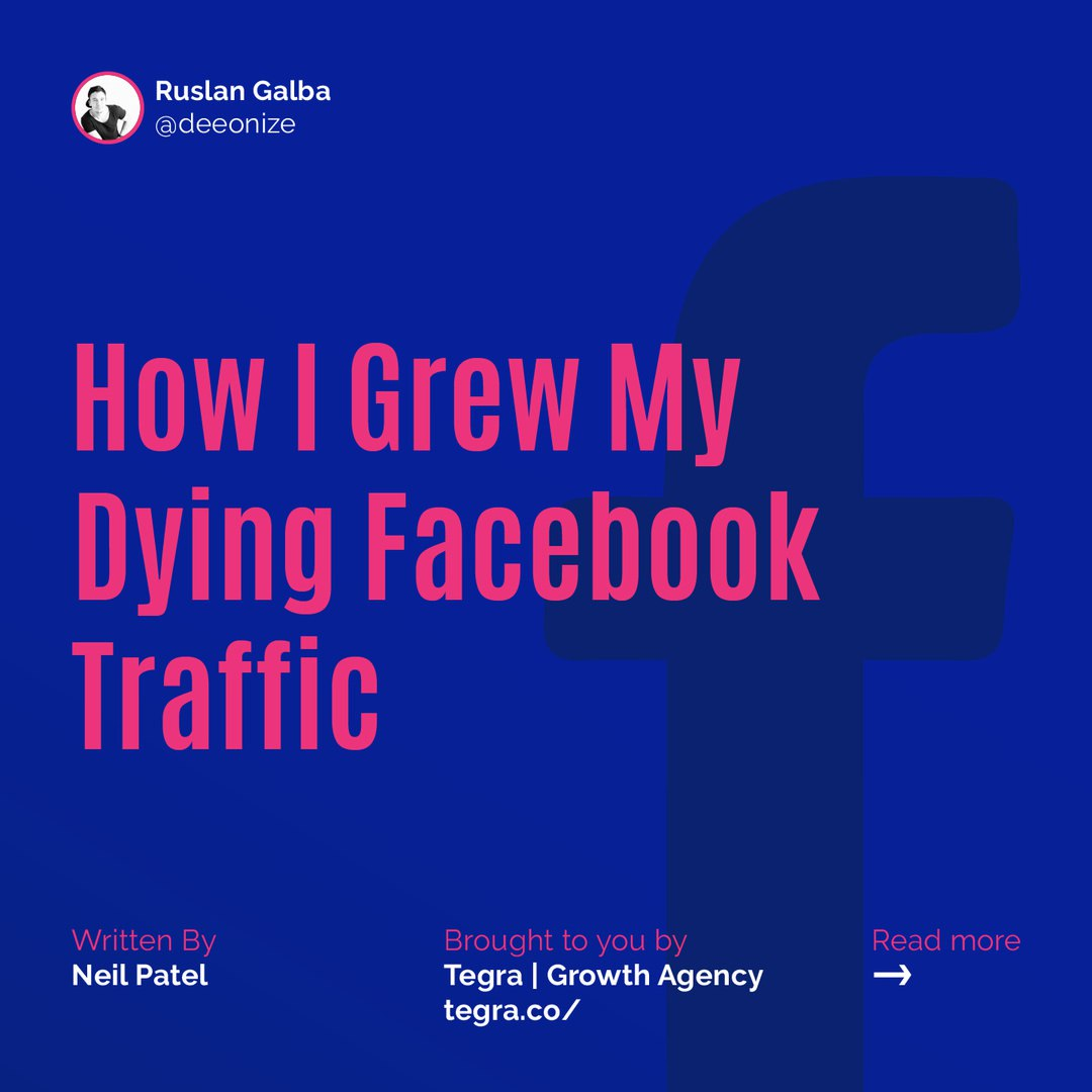 How I Grew My Dying Facebook Traffic. 5 Tactics